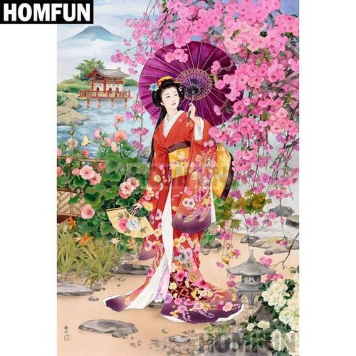 5D Diamond Painting Japanese Woman Parasol Kit