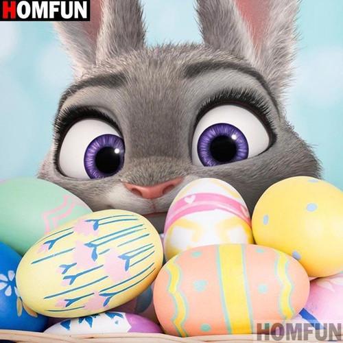 5D Diamond Painting The Easter Bunny's Eggs Kit