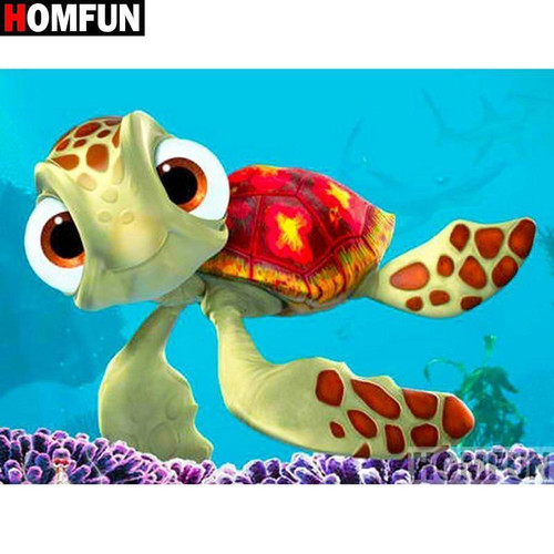 5D Diamond Painting Turtle Squirt from Finding Nemo Kit