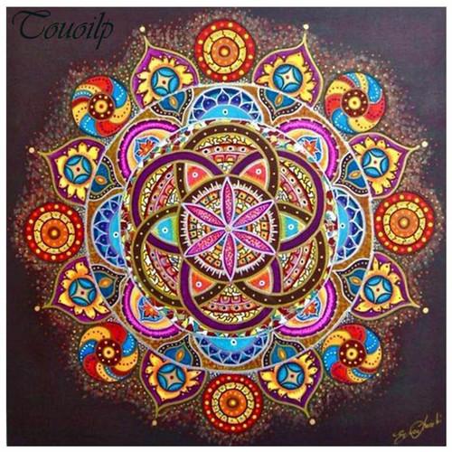 5D Diamond Painting Pink Flower Center Mandala Kit