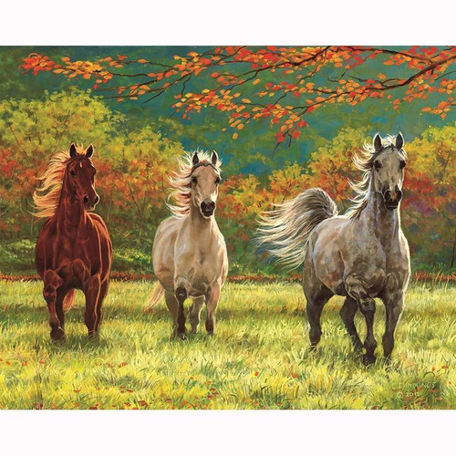 5D Diamond Painting Horses in the Meadow Kit