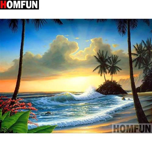 5D Diamond Painting Beach Sunset Kit