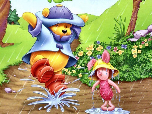 5D Diamond Painting Pooh and Piglet Puddles Kit