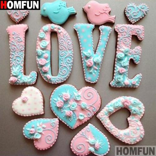 5D Diamond Painting Love in Cookies Kit