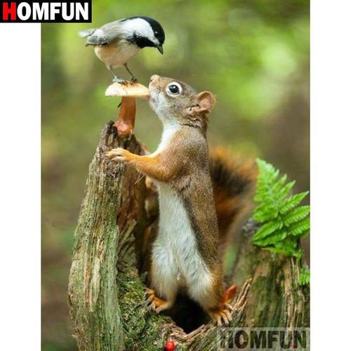 5D Diamond Painting Bird and Squirrel Kit