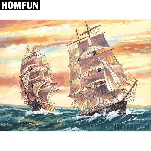 5D Diamond Painting Two Sailing Ships Kit
