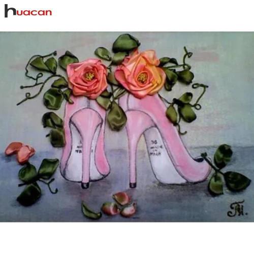 5D Diamond Painting Roses and Pink Stilettos Kit