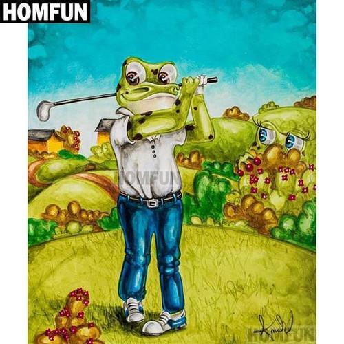 5D Diamond Painting Golfing Frog Kit
