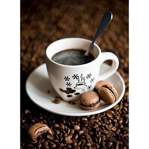 5D Diamond Painting Coffee and Macaroons Kit