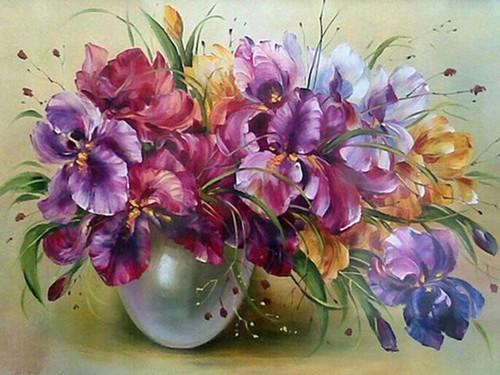 5D Diamond Painting Iris Bouquet Kit