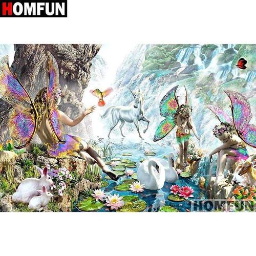 5D Diamond Painting Daylight Fairies and Unicorns Kit
