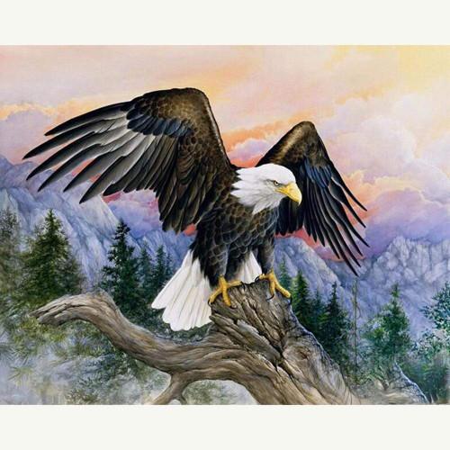 5D Diamond Painting Eagle Tree Perch Kit