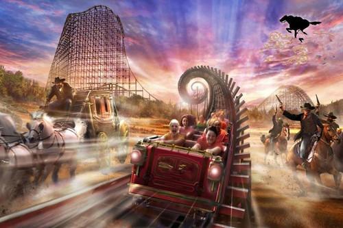 5D Diamond Painting Ghost Rider Roller Coaster Kit