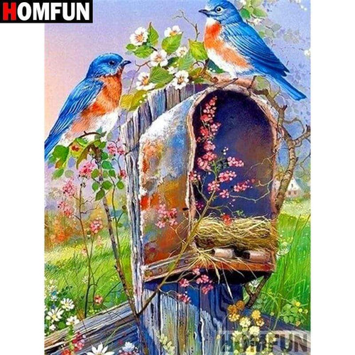 5D Diamond Painting Bird Mail Box Nest Kit