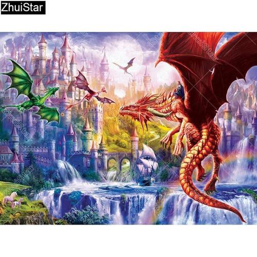 5D Diamond Painting Dragon Kingdom Kit