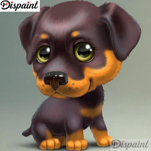 5D Diamond Painting Cartoon Rottweiler Kit