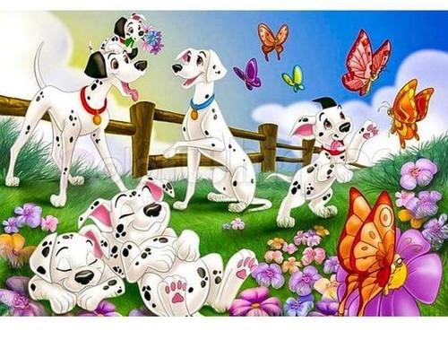 5D Diamond Painting 101 Dalmatians and Butterflies Kit