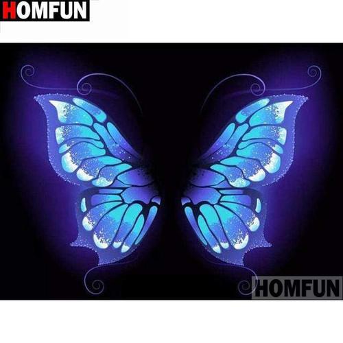 5D Diamond Painting Blue Butterfly Wings Kit