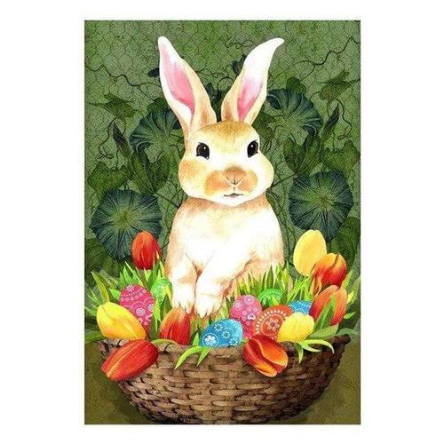 5D Diamond Painting Tulip & Egg Bunny Basket Kit