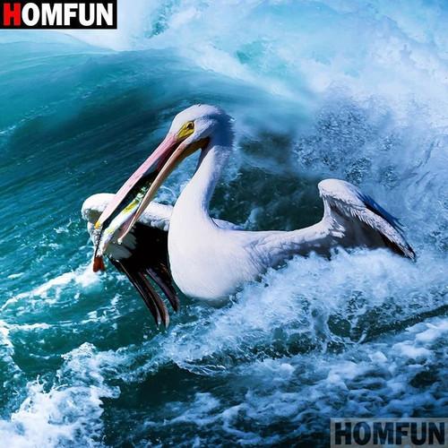 5D Diamond Painting Pelican in the Sea Kit