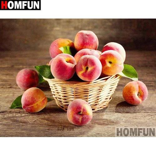 5D Diamond Painting Basket of Peaches Kit