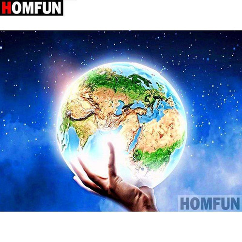 5D Diamond Painting World in your Hands Kit