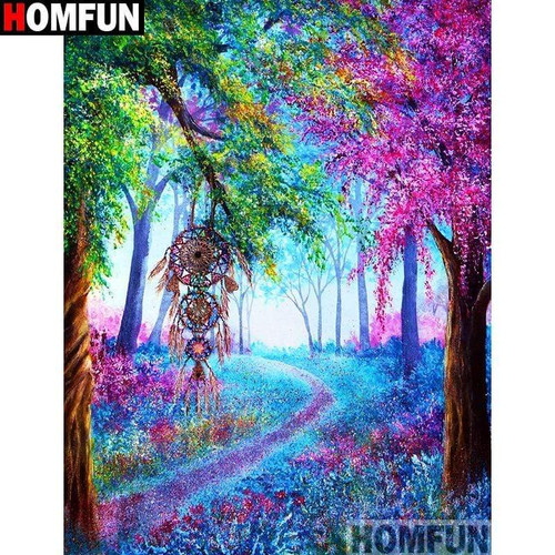 5D Diamond Painting Dream Catcher in the Trees Kit