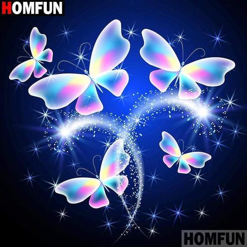 5D Diamond Painting Sparkling Butterflies Kit