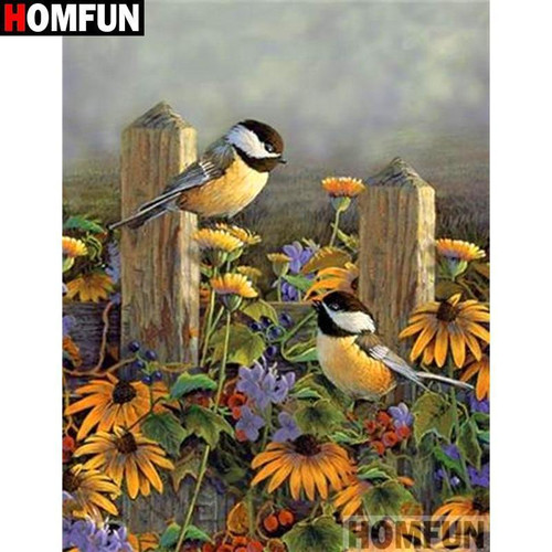5D Diamond Painting Birds in the Sunflowers Kit