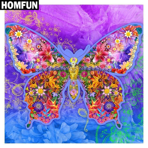 5D Diamond Painting Abstract Flower Butterfly Kit