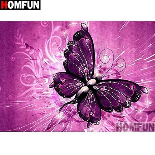 5D Diamond Painting Dark Purple Butterfly Kit