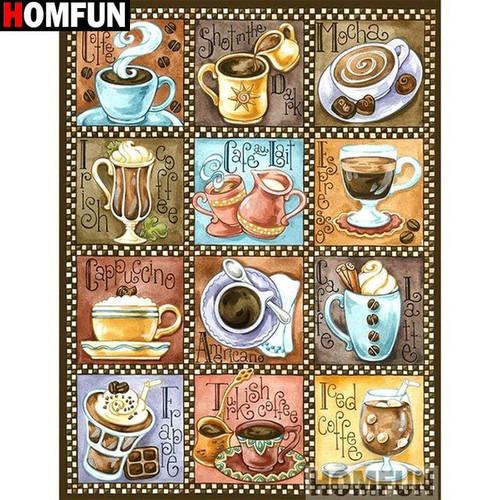 5D Diamond Painting Coffee Drinks Kit