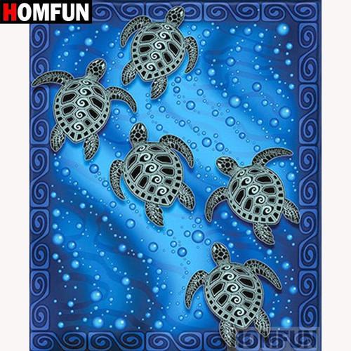 5D Diamond Painting Five Sea Turtles Kit