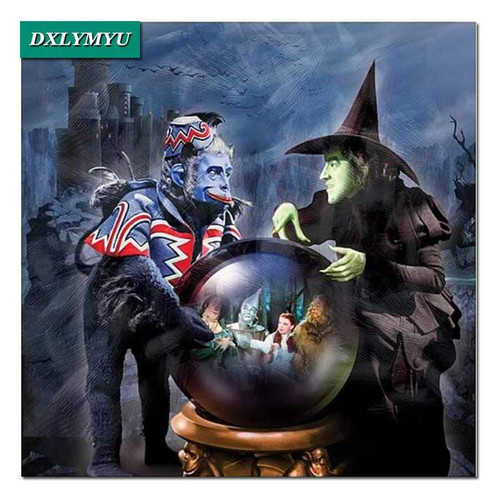 5D Diamond Painting Wicked Witch and her Flying Monkey