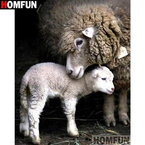 5D Diamond Painting Sheep and Lamb Kit