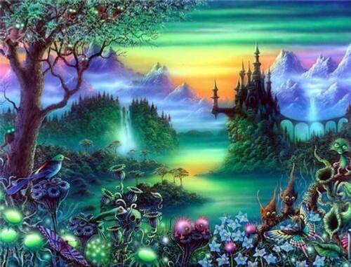 5D Diamond Painting Far Away Fantasy Kingdom Kit