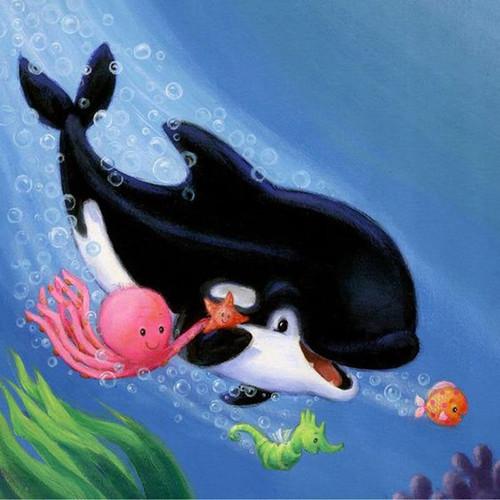 5D Diamond Painting Cartoon Sea Animals Kit