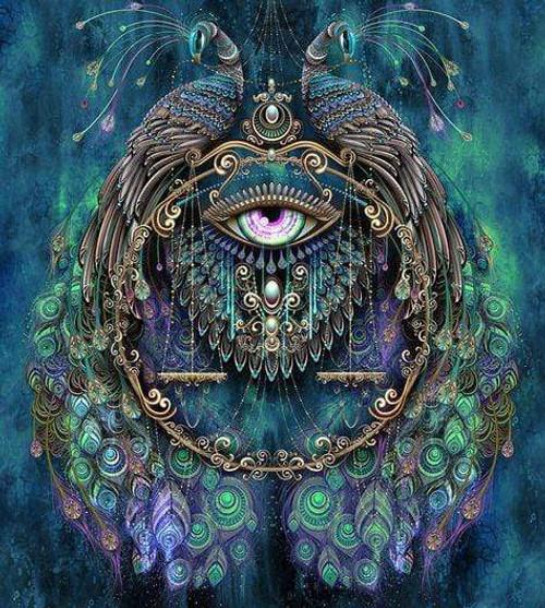 5D Diamond Painting Peacock Eye kit