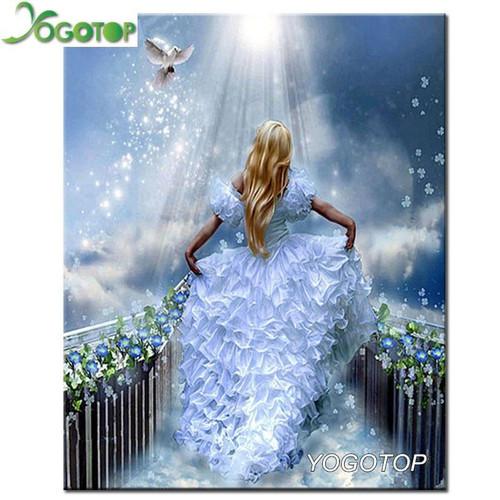 5D Diamond Painting White Dress and Dove Kit