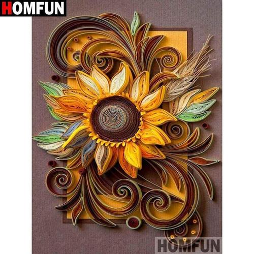 5D Diamond Painting Sunflower Abstract Design Kit