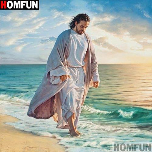 5D Diamond Painting Jesus Walking on the Shore Kit