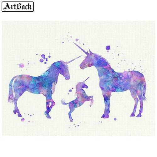 5D Diamond Painting Three Unicorns Kit