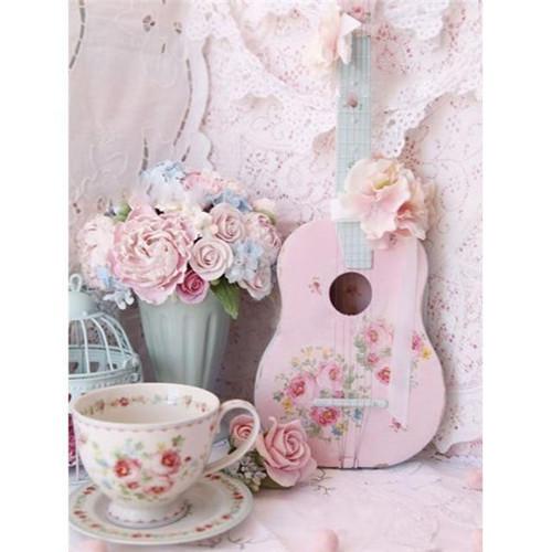 5D Diamond Painting Tea Cup and Ukulele Kit