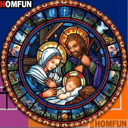 5D Diamond Painting Birth of Jesus Circle Kit