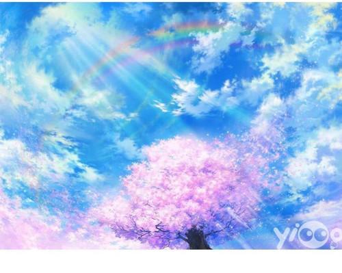 5D Diamond Painting Pink Tree Rainbow Kit