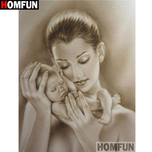 5D Diamond Painting Mother and Baby Kit