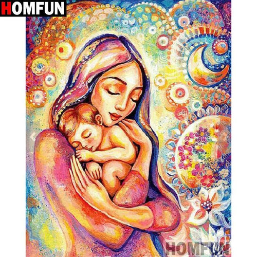5D Diamond Painting Abstract Mother and Child Kit