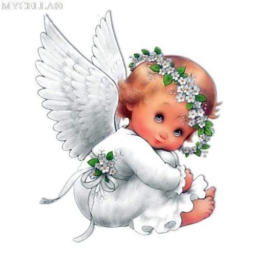5D Diamond Painting Little White Angel Kit