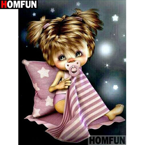 5D Diamond Painting Bedtime Baby Girl Kit