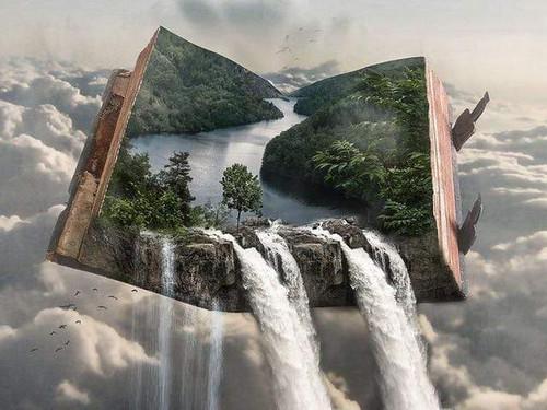 5D Diamond Painting Book Waterfalls Kit